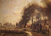 Corot Camille The road of Without-him-Noble oil