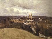 Corot Camille View of Saint-It oil
