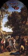 Corot Camille The Baptism of Christ oil
