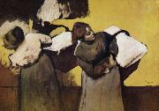 Edgar Degas Two Laundryman oil painting picture wholesale