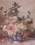 F.Rivoire Apple Blossoms with Peonies oil painting picture wholesale