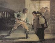 Francisco Goya El Maragato points a gun on Friar Pedro oil painting picture wholesale