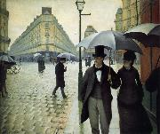 Gustave Caillebotte The raining at Paris street oil painting picture wholesale