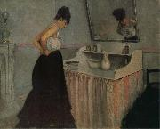 Gustave Caillebotte The fem in front of the toilet table oil painting picture wholesale