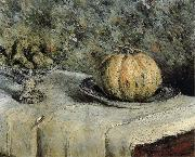Gustave Caillebotte The muskmelon and a handleless cup of fig oil painting picture wholesale