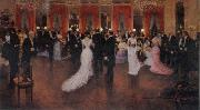 Jean Beraud An Evening Soiree oil painting picture wholesale