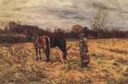 John W.Beatty Harvest Sence oil painting picture wholesale