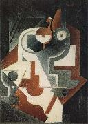Juan Gris Single small round table oil painting picture wholesale
