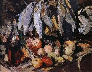 Konstantin Korovin Fish wine and fruit Germany oil painting reproduction