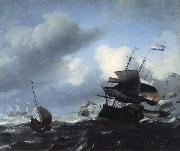 Ludolf Backhuysen Seascape with Ships oil painting picture wholesale