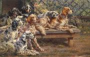 Osthaus, Edmund Henry Seven English Setters oil painting artist