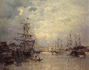 Stanislas lepine The Port of Caen oil painting picture wholesale