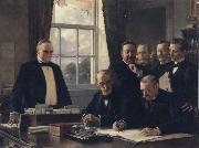 Theobald Chartran Signing of the Peace Protocol Between Spain and the United States oil painting picture wholesale
