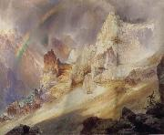 Thomas Moran Rainbow over the Grand Canyon of the Rellowstone oil painting picture wholesale