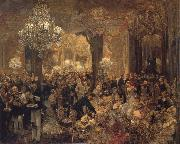 Adolph von Menzel Ball Supper oil