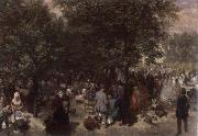 Adolph von Menzel Afternoon in the Tuileries Garden oil