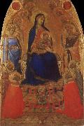 Ambrogio Lorenzetti Madonna and Child Enthroned with Angels and Saints oil