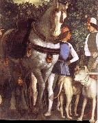 Andrea Mantegna Servant with horse and dog oil