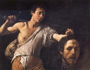 Caravaggio David with the head of Goliath oil painting picture wholesale