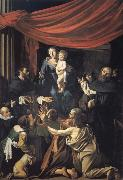 Caravaggio The Madonna of the rosary oil painting picture wholesale