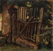 Christian Friedrich Gille Garden Gate oil