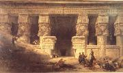 David Roberts The Temple at Dendera oil