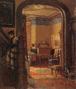 Eastman Johnson Not at Home oil painting picture wholesale