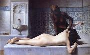 Edouard Debat Ponsan The Massage Scene from the Turkish Baths oil