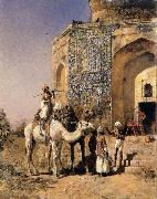 Edwin Lord Weeks Old Blue-Tiled Mosque,Outside Delhi,India oil