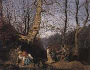 Ferdinand Georg Waldmuller Early Spring in the Vienna Woods oil painting reproduction