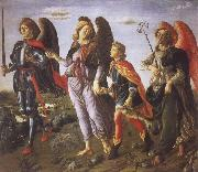 Francesco Botticini Tobias and the Three Archangels oil painting picture wholesale