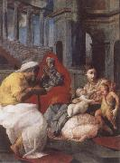 Francesco Primaticcio The Holy family with St.Elisabeth and St.John t he Baptist oil painting picture wholesale