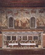 Francesco del Castagno Last supper and above resurrection oil painting picture wholesale