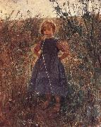 Fritz von Uhde Little Heathland Princess oil painting artist