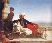 Hicks, Thomas Advocat Taylor with a View of Damascus oil painting artist