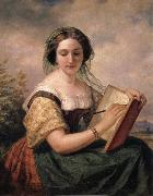 Huntington Daniel A Portrait of Mlle Rosina, A Jewess oil painting artist