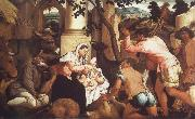 Jacopo Bassano The Adoration of the Shepherds oil painting picture wholesale