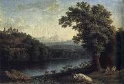 Jakob Philipp Hackert Landscape with River oil painting artist