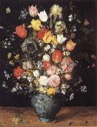Jan Brueghel The Elder Flower in a blue vase oil painting picture wholesale