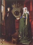 Jan Van Eyck The Arnolfini Portrait oil painting reproduction
