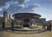 Johann Erdmann Hummel The Granite Bowl at the Lustgarten Berlin oil painting artist