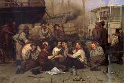 John George Brown The Longshoremen-s Noon oil painting picture wholesale