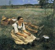 Jules Bastien-Lepage The Haymakers oil painting artist