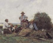 Julien  Dupre Harvesters At Rest oil painting picture wholesale