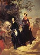 Karl Briullov Portrait of The Shishmariov sisters,Olga and Alexandra oil painting picture wholesale