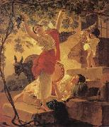 Karl Briullov Young Girl Gathering Grapes in the Neighbourhood of Naples oil painting picture wholesale