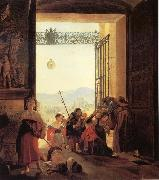 Karl Briullov Pilgrims in the Roorway of The Lateran Basilica oil painting picture wholesale