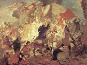 Karl Briullov The Siege of Pskov by the troops of stephen batory,King of Poland oil painting picture wholesale