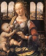 LEONARDO da Vinci Madonna with the carnation oil painting picture wholesale