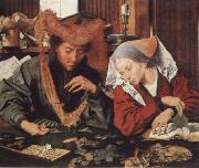Marinus van Reymerswaele Money-changer and his wife oil painting artist